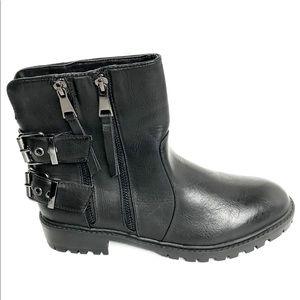 NWOT QUPID Combat Moto Double Zip Buckle Boots 8